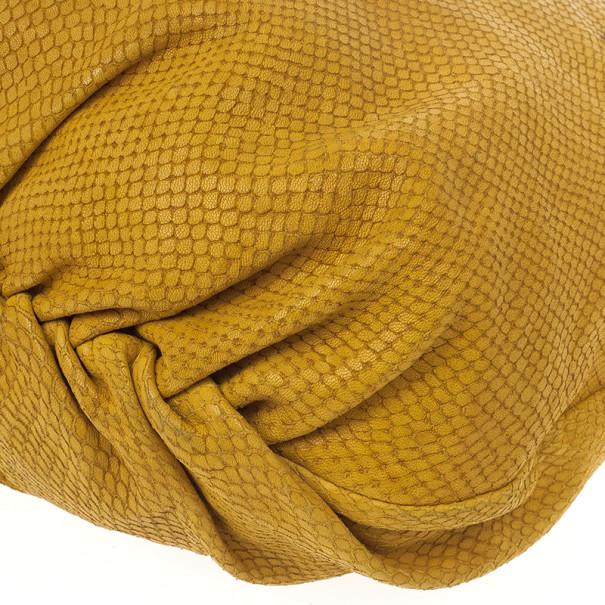 Jimmy Choo Beige Leather & Python Riki Hobo