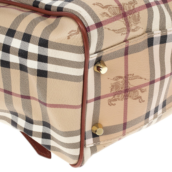 Burberry Small Haymarket Check Tote Bag