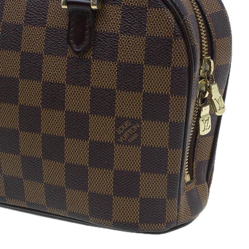 Louis Vuitton Damier Ebene Canvas Mini Sarria Satchel Bag