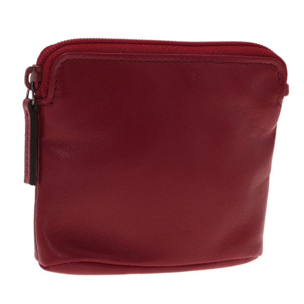 Gucci Red Leather Coin Pouch