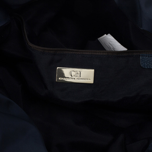 Carolina Herrera Drawstring Monogram Shoulder Bag