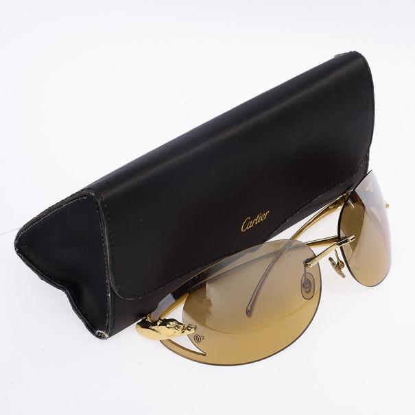 Cartier Panthere de Cartier Rimless Woman Sunglasses