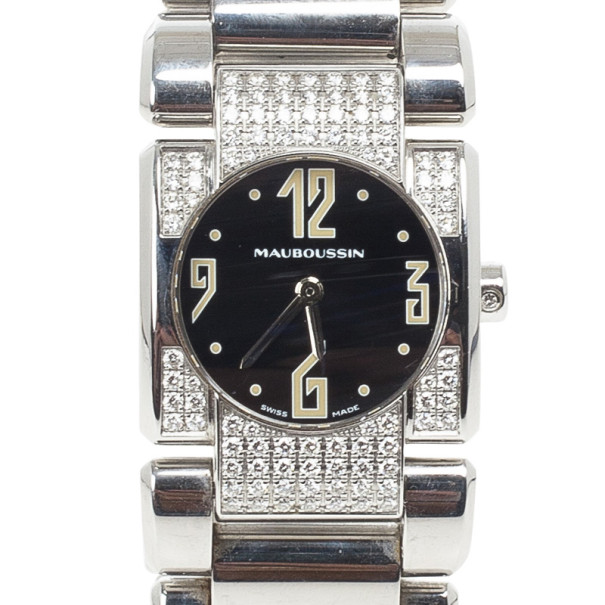 Mauboussin Alessandrine SS Diamond Womens Watch 24 MM