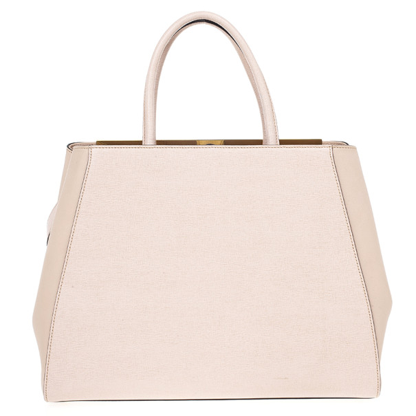 Fendi Leather 2 Jours Pink Tote