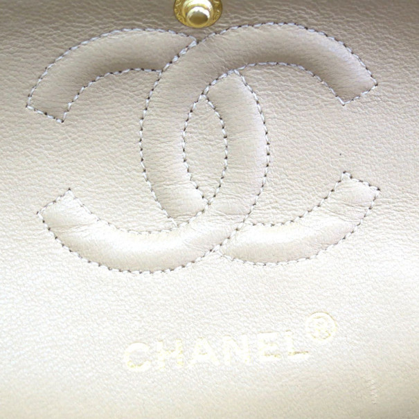 Chanel Beige Lambskin Small Flap