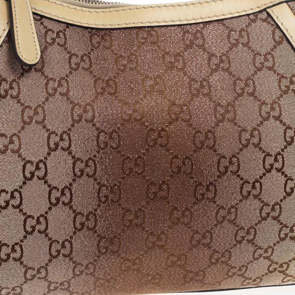 Gucci Interlocking G Canvas Scarlett Hobo