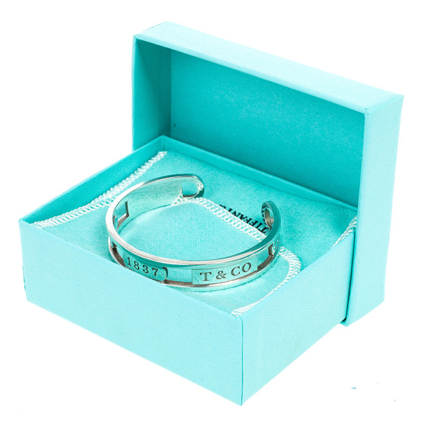 Tiffany & Co. 1837 Elements Silver Cuff Bracelet 16 CM