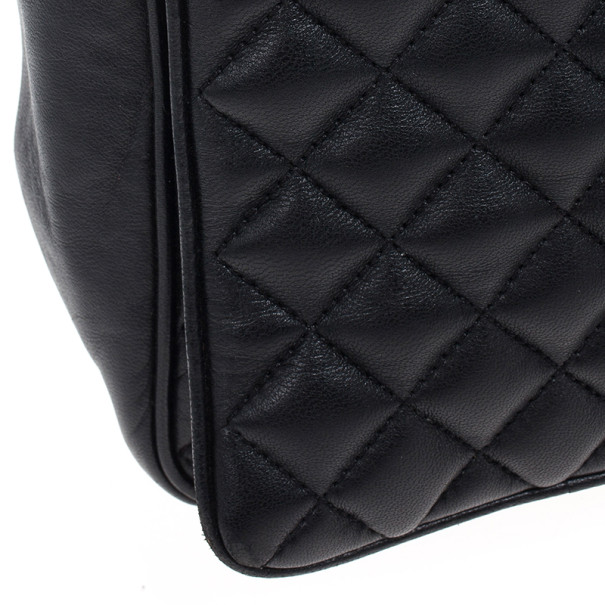 Carolina Herrera Black Quilted Flap Bag