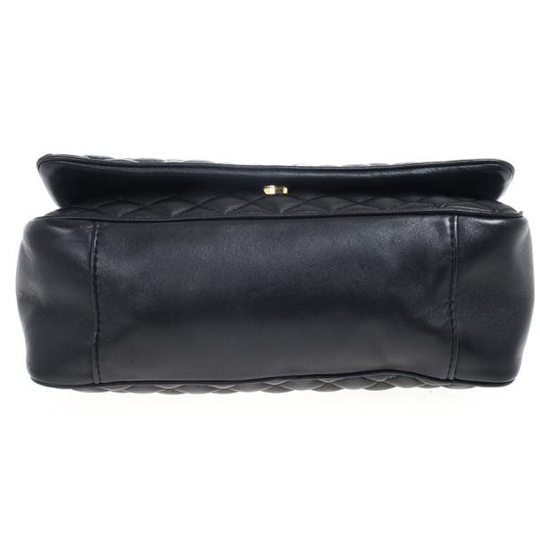 Carolina Herrera Black Quilted Flap Bag