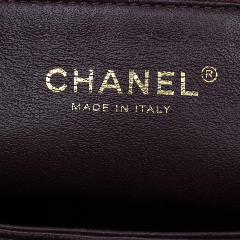 Chanel Burgundy Lambskin Leather Quilted Medium Diamond Flap Bag