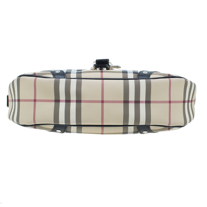 Burberry Black Small Nova Check Hobo