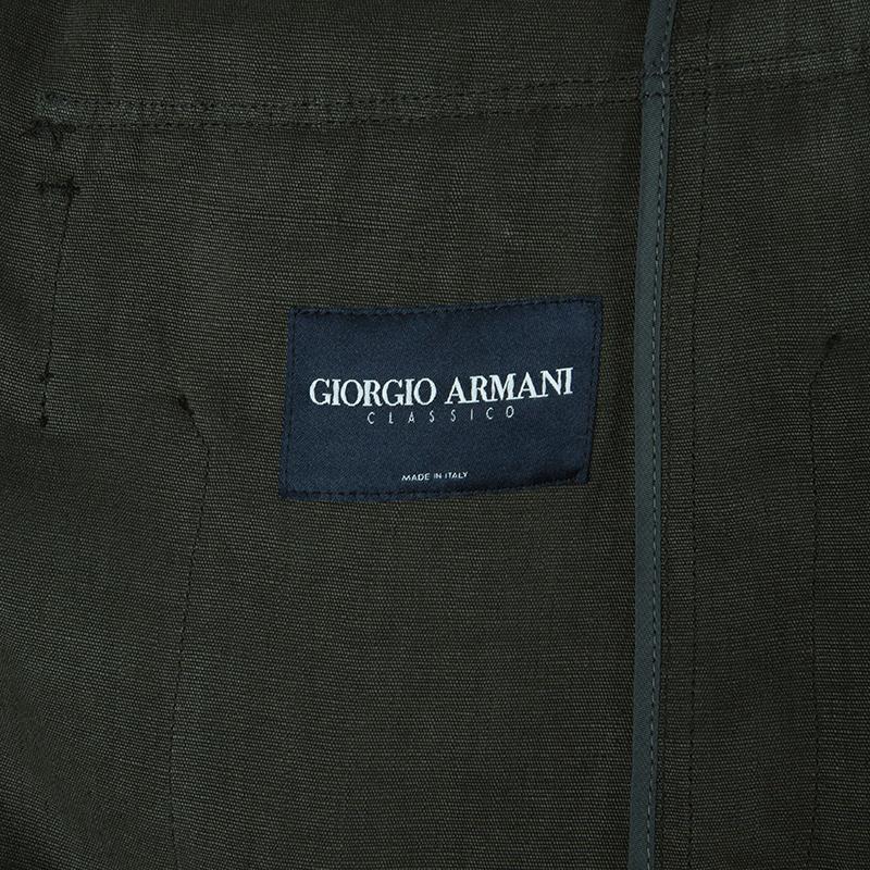 Giorgio Armani Mens Olive Green Jacket L