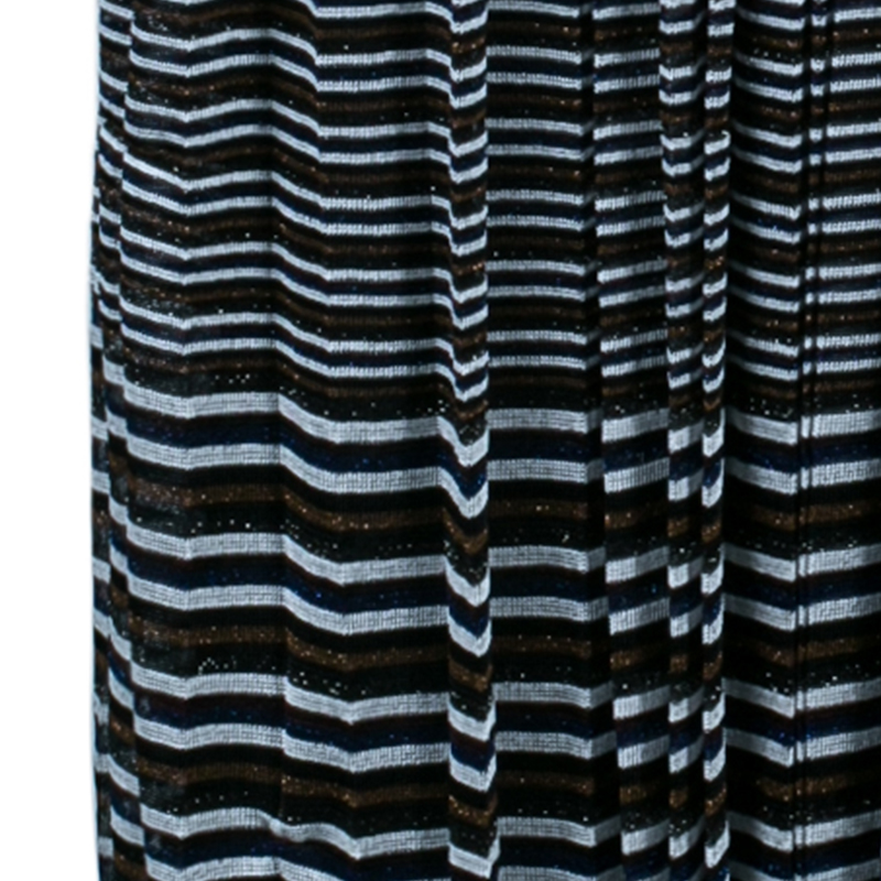 Missoni Multicolor Striped Knit Maxi Skirt M