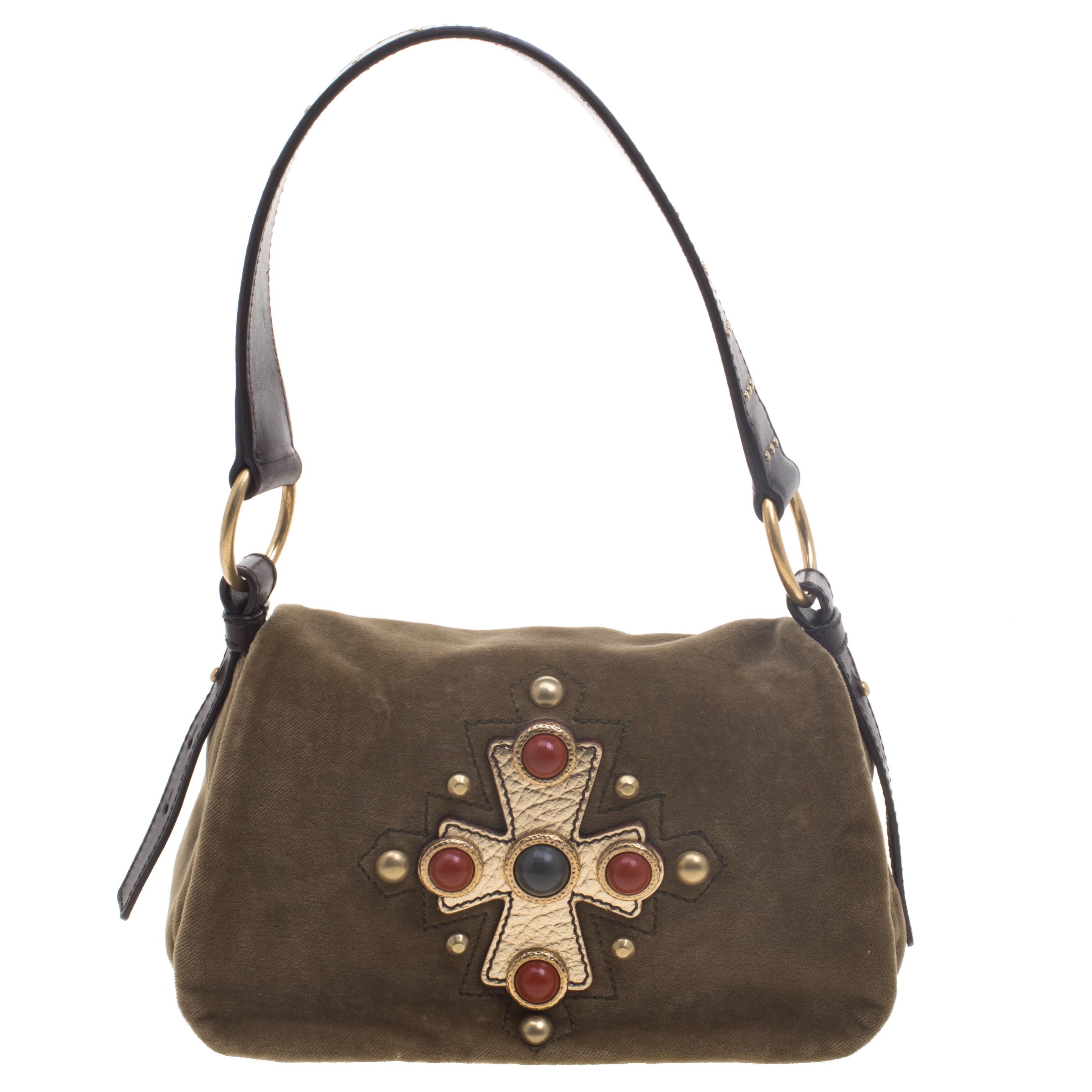 ... Saint Laurent Paris Olive Green Suede Venise Shoulder Bag. nextprev.  prevnext 13a46604de954
