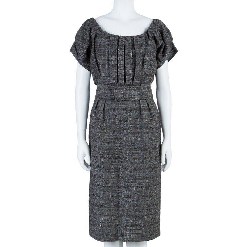 Philosophy di Alberta Ferretti Wool Belted Dress L