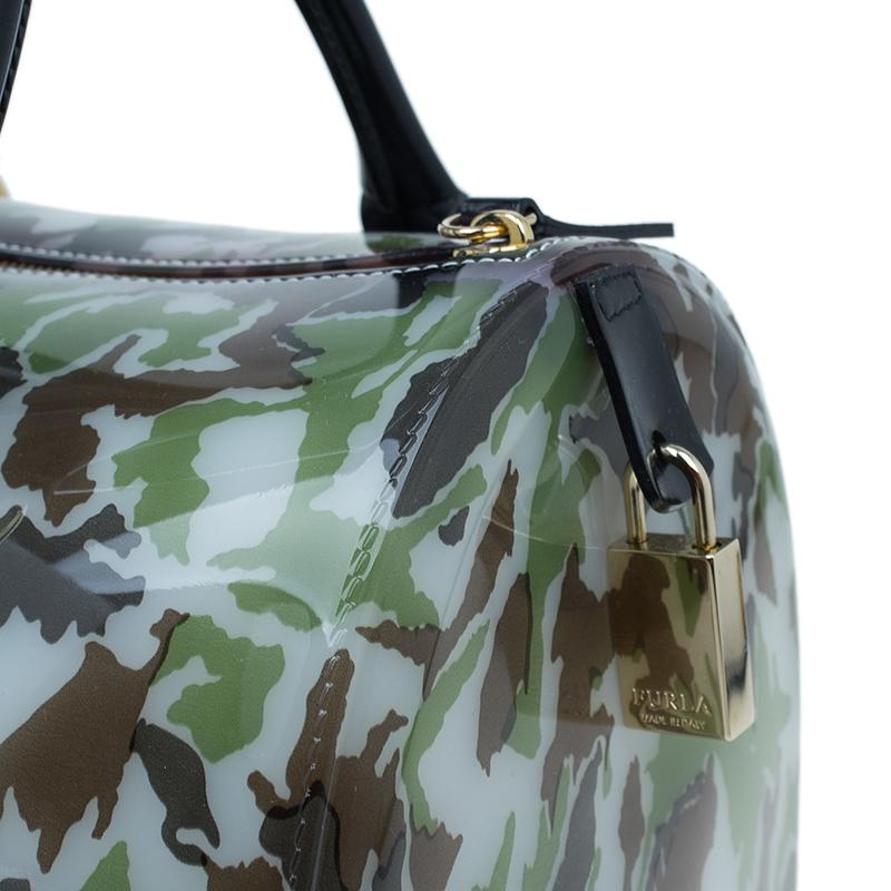 Furla Camo Rubber Candy Satchel Bag