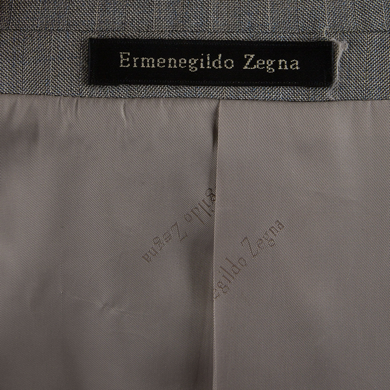 Ermenegildo Zegna Men's Grey Wool Suit L