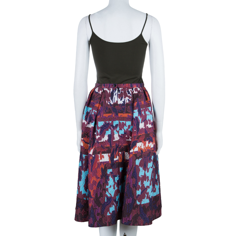 Peter Pilotto Multicolor Textured Skirt S
