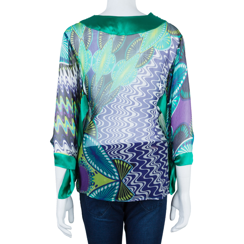 M Missoni Multicolor Contrast Panel Top M