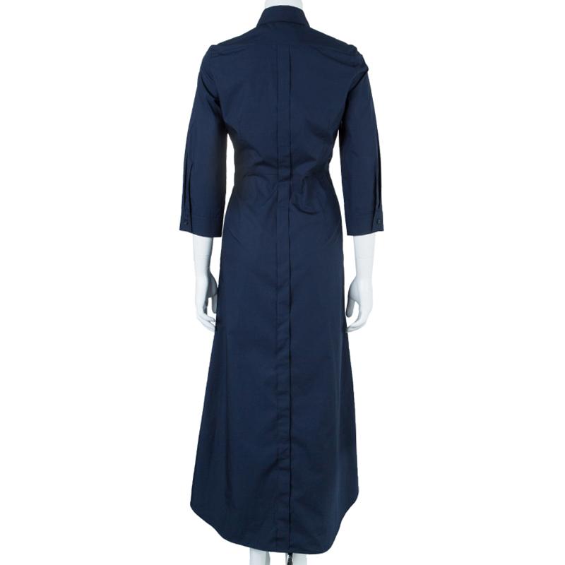 Weekend Max Mara Navy Blue Maxi Shirt Dress S