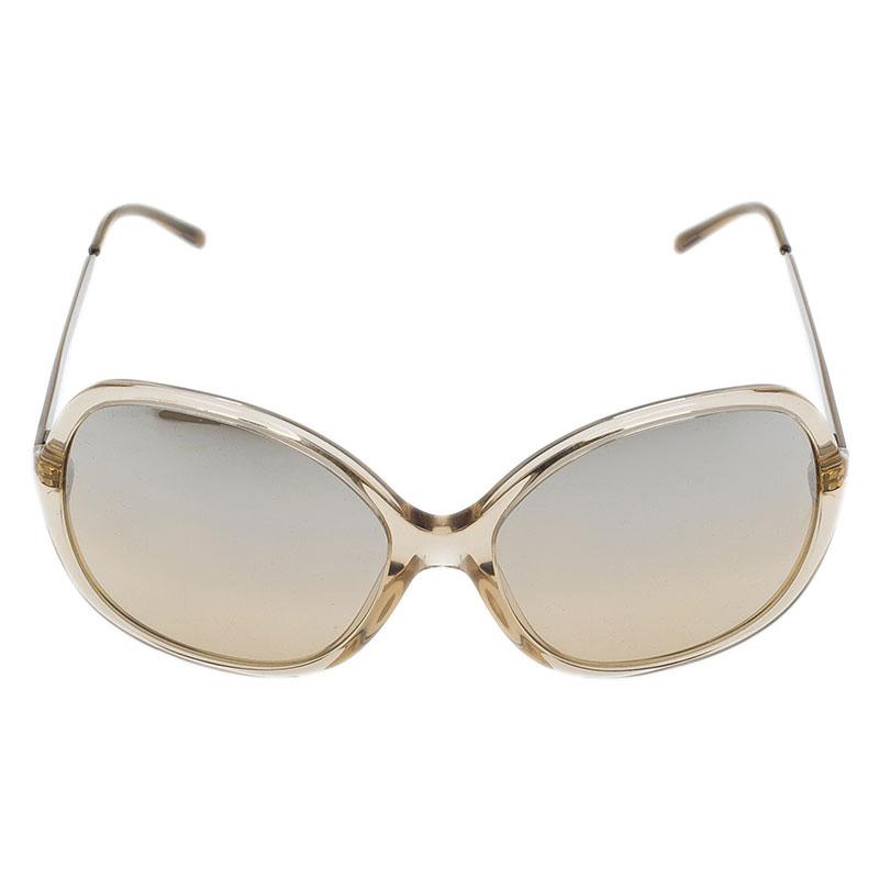 Burberry Brown Oversized Round Sunglasses