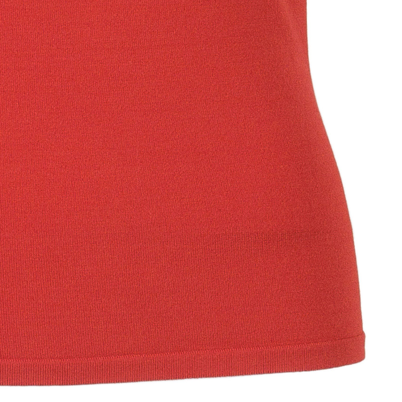 Valentino Red Sleeveless Rosette Detail Top S