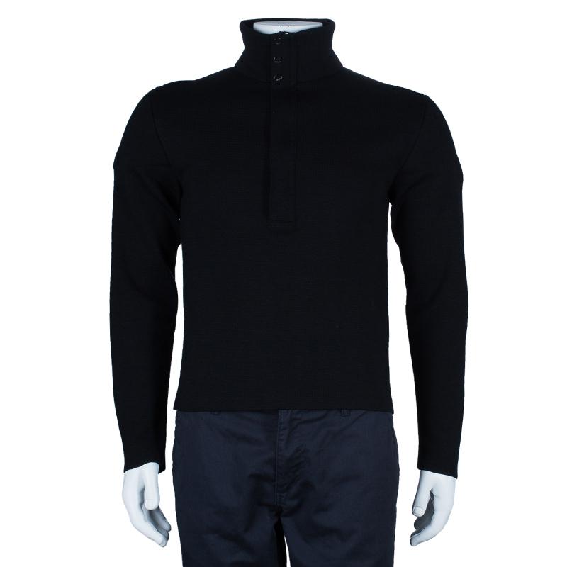 Versace Men's Black Knit Pullover M