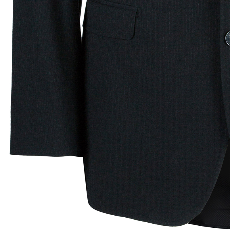 Dolce and Gabbana Men's Charcoal Pinstripe Blazer L