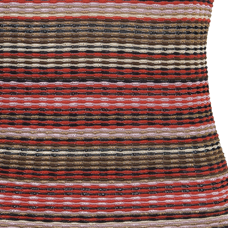 M Missoni Red Multicolor Sleeveless Top M