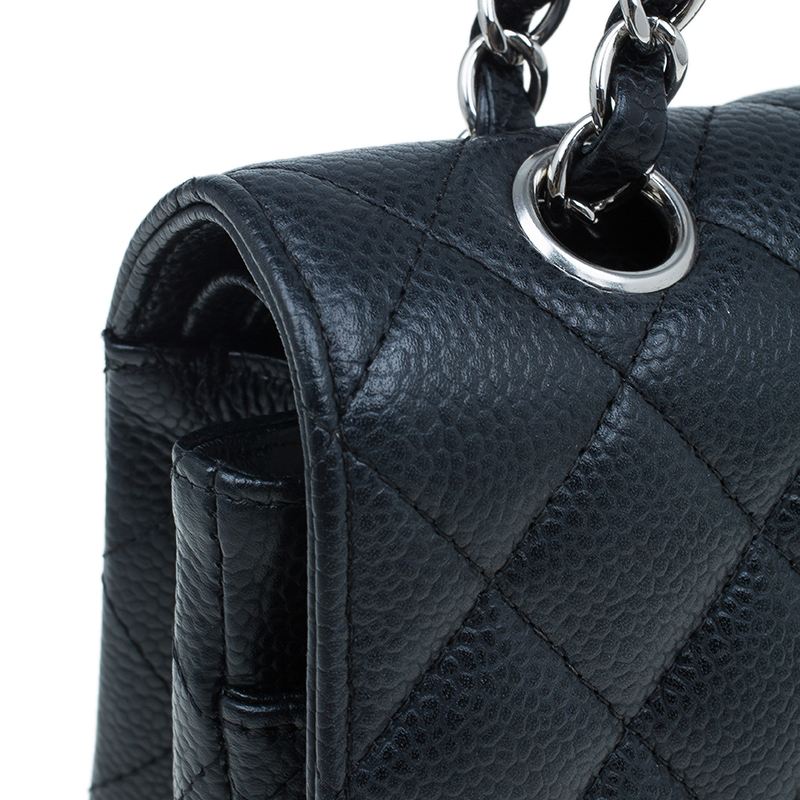 Chanel Black Caviar Leather Medium Classic Double Flap Bag
