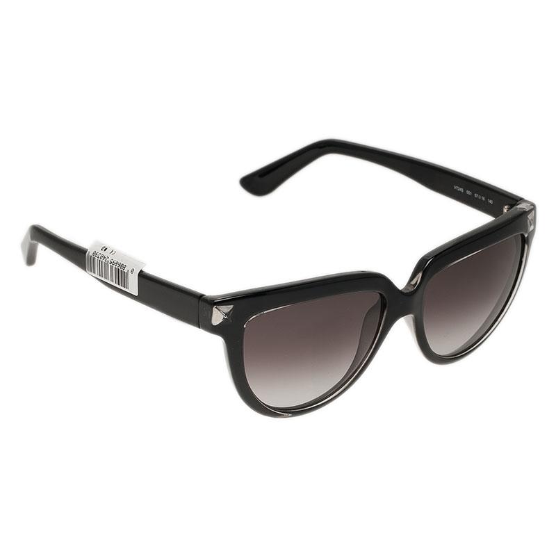 Valentino Black V724S Rockstud Cat Eye Sunglasses
