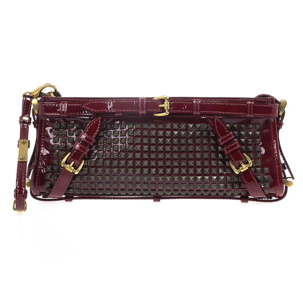 Burberry Hyde Studded Clutch