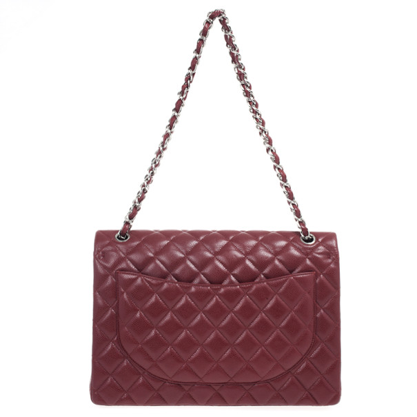 Chanel Rouge Fonce Maxi Classic Flap Bag