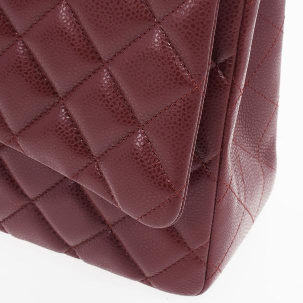 Chanel Rouge Fonce Maxi Classic Flap Bag