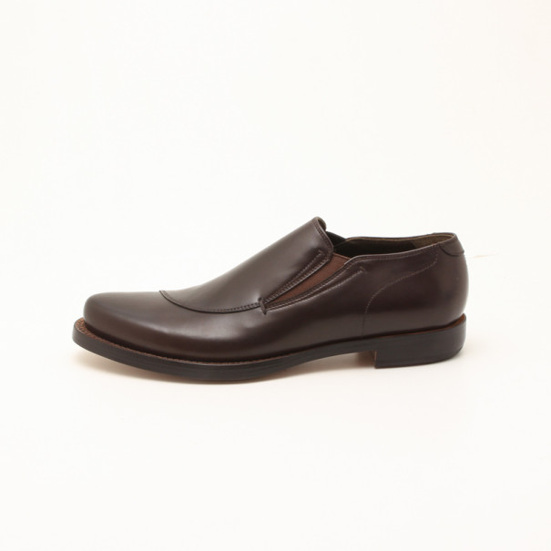 Fendi Brown Leather Men's Loafers Size 43.5