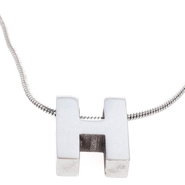 Hermes H Pendant Necklace