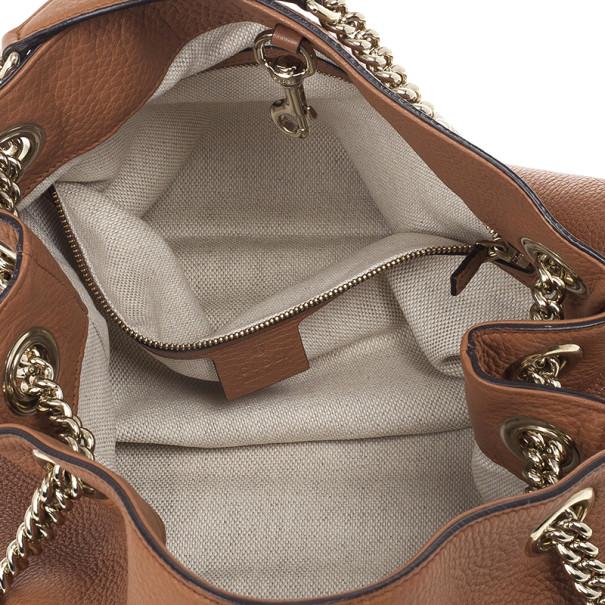 Gucci Soho Medium Tan Leather Tote