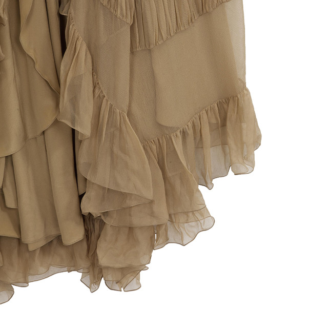 Dior Tiered Embellished Gown M
