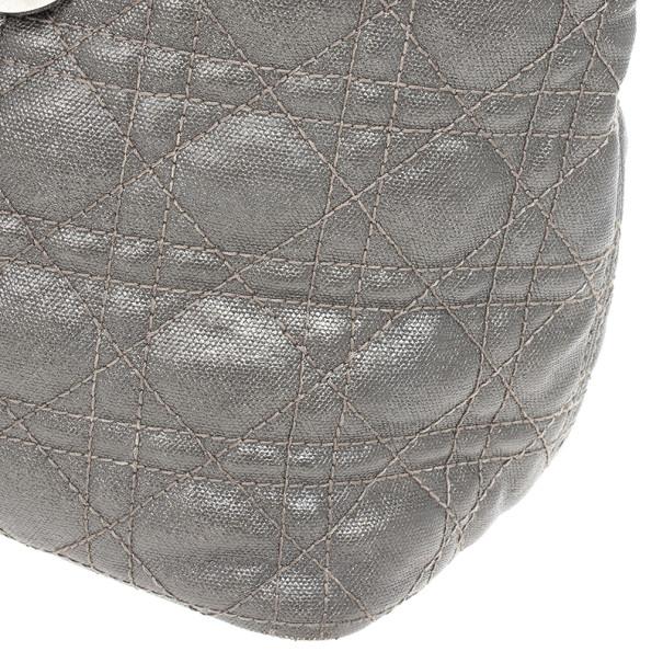 Dior Grey Coated Canvas 'Panarea' Medium Tote