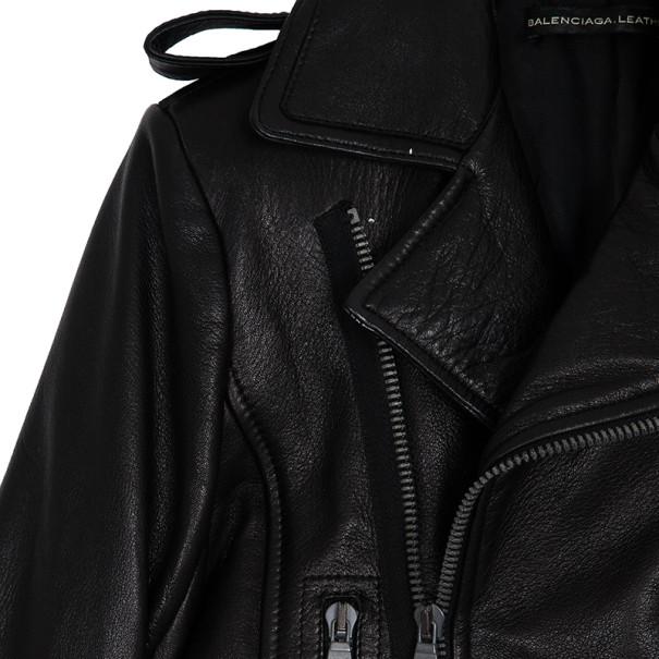 Balenciaga Biker Leather Jacket XS