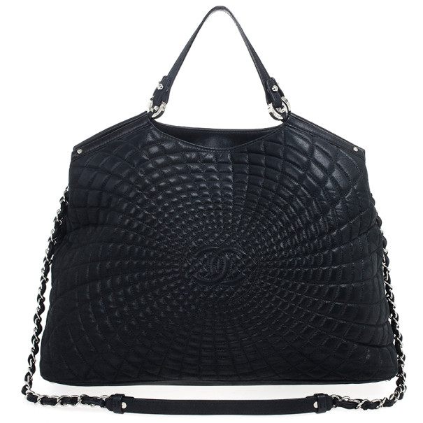 Chanel Black Leather Sea Hit Tote