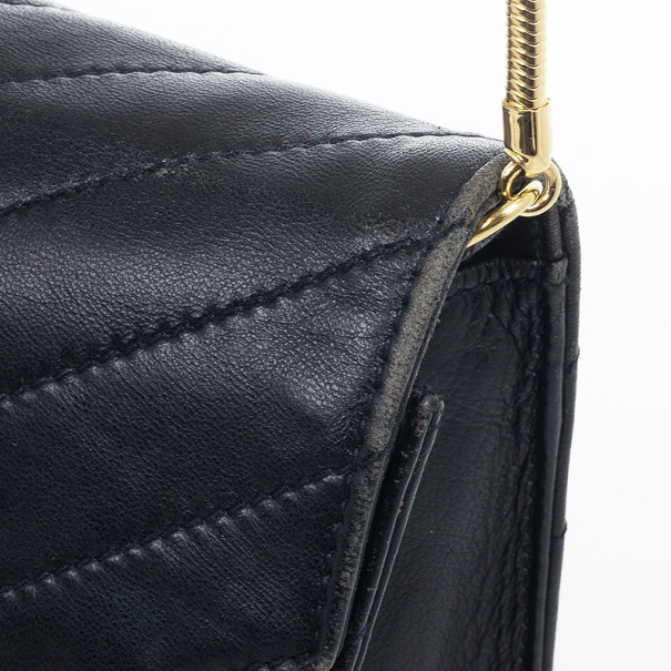 LC - Buy \u0026amp; Sell - Yves Saint Laurent Vintage Chevron Black ...