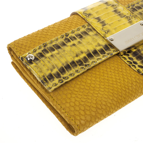 Jimmy Choo Embossed Leather and Elaphe Uma Wallet