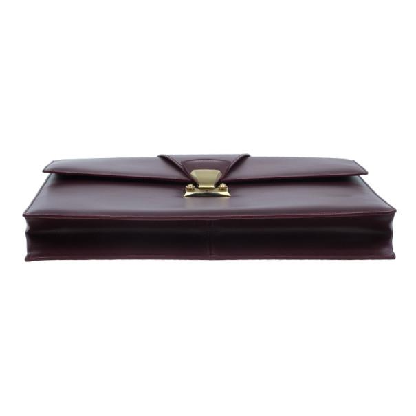 Cartier Crimson Leather Pasha Briefcase