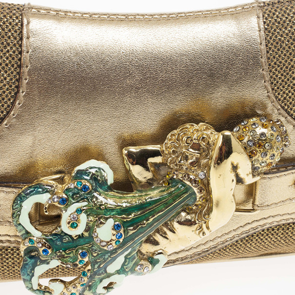 Dolce and Gabbana Chain Mesh and Jewels Pochette