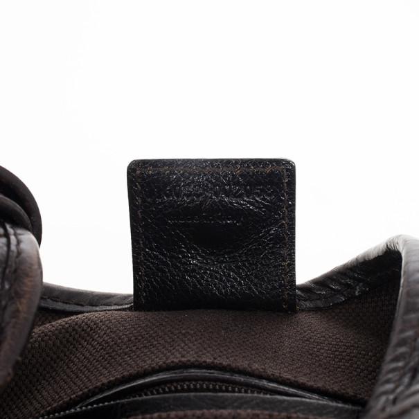 Saint Laurent Paris Black Leather Mombasa Hobo