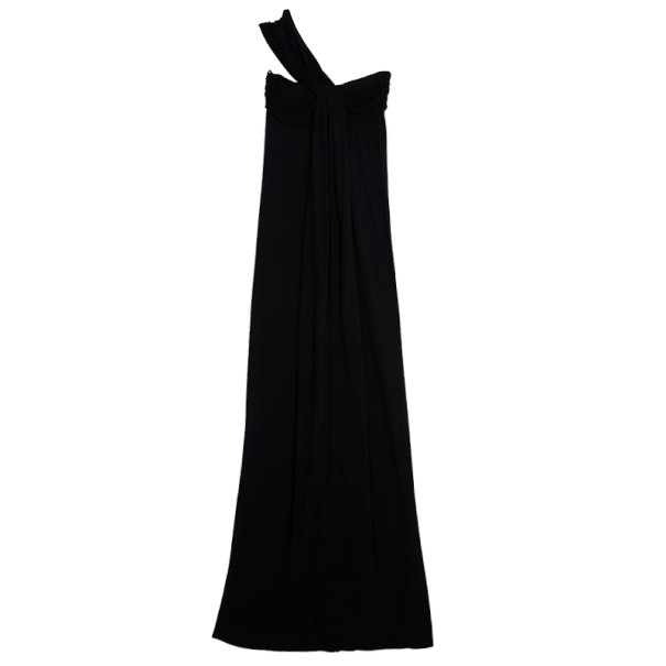 Fendi Cotton Stretch One Shoulder Maxi Dress XS