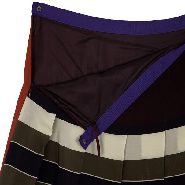 Weekend Max Mara Striped Pleated Skirt L