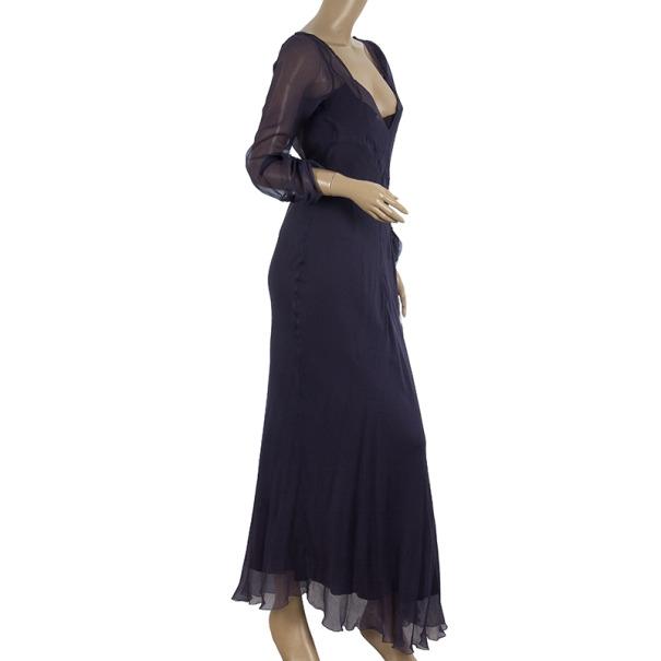 Alberta Ferretti Chiffon Dress With Slip Size L