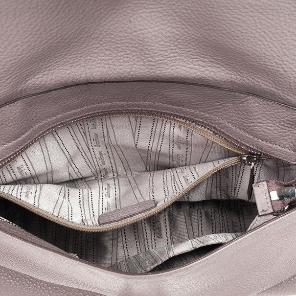 Salvatore Ferragamo Grey Leather Medium Sofia Top Handle Bag